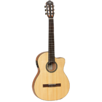 Tanglewood TWEMDC1 Enredo Madera Dominar Thinline Classical Cutaway/Electric Guitar